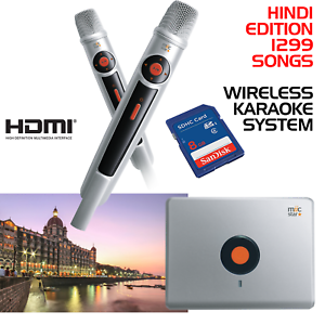 MIIC-STAR-MS-62-HINDI-KARAOKE-SYSTEM-WIRELESS-MICS-WITH-1299-SONGS