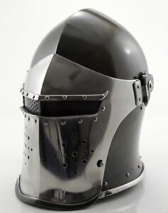 Medieval-Barbute-Helmet-Armour-Helmet-Roman-Knight-Helmets-With-exp-shipping