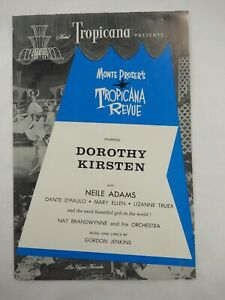 Hotel-Tropicana-Presents-Monte-Proser-039-s-Revue-Programa-Tarjeta-Postal-1957