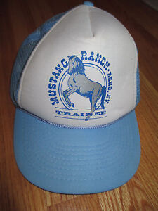Vintage MUSTANG RANCH - Reno, NV TRAINEE (Adjustable Snap Back) Mesh Cap