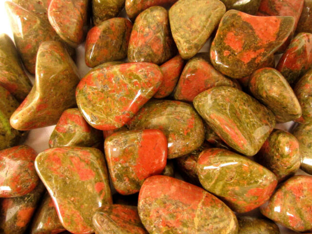 *ONE* Unakite Tumbled Stone 30-40mm QTY1 Crystal Healing Reiki Pregnancy Unborn