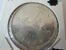 1946 Silver Canadian Dollar George VI Coin