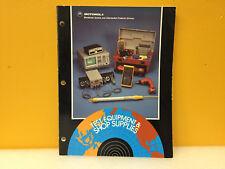 Motorola Test Equipment Shop Supplies Catalog