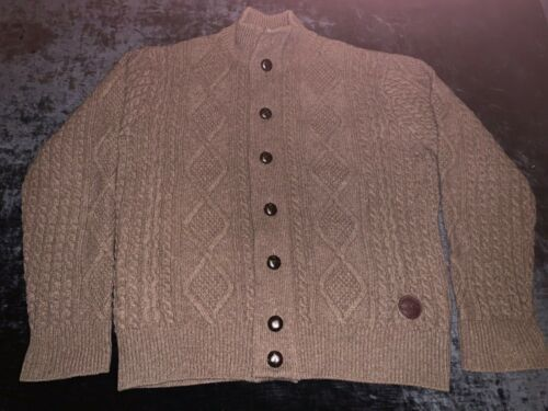 Men's Barbour Kirkman Cable knit Lambswool Cardiga