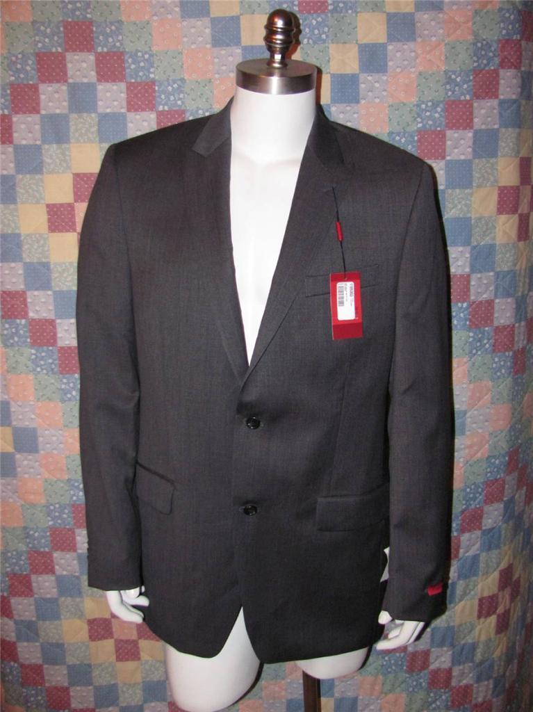 Alfani Slim Fit Blazer Size 42 L Men's 100% Wool 2 Button Grey Sport Coat NWT
