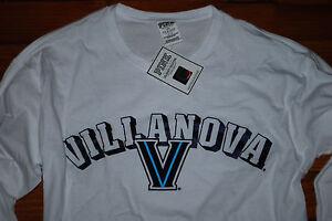 """NEW PINK by Victoria's Secret """"Nova Nation"""" Villanova White L/S Shirt (S, M, L)"""