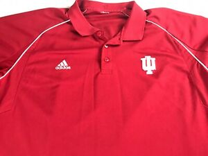 Indiana-Hoosiers-Polo-Shirt-Fits-Mens-2XL-Student-Alumni-Adidas-Climalite-Golf