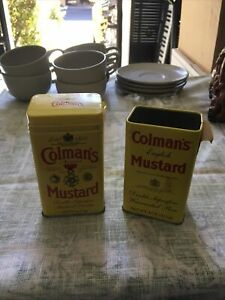 Vintage Colman's Mustard Tin Can Lot Of 2