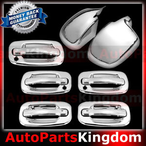 Image is loading 00-06-Chevy-Tahoe-Chrome-Mirror-4-Door- & 00-06 Chevy Tahoe Chrome Mirror+4 Door handle PSG Keyhole+Tailgate ...