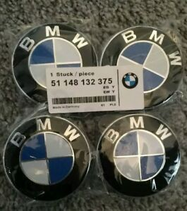 BMW-Alloy-Wheel-Centre-Hub-Caps-Set-of-4-68mm-BMW-Center-Caps-10-Pin