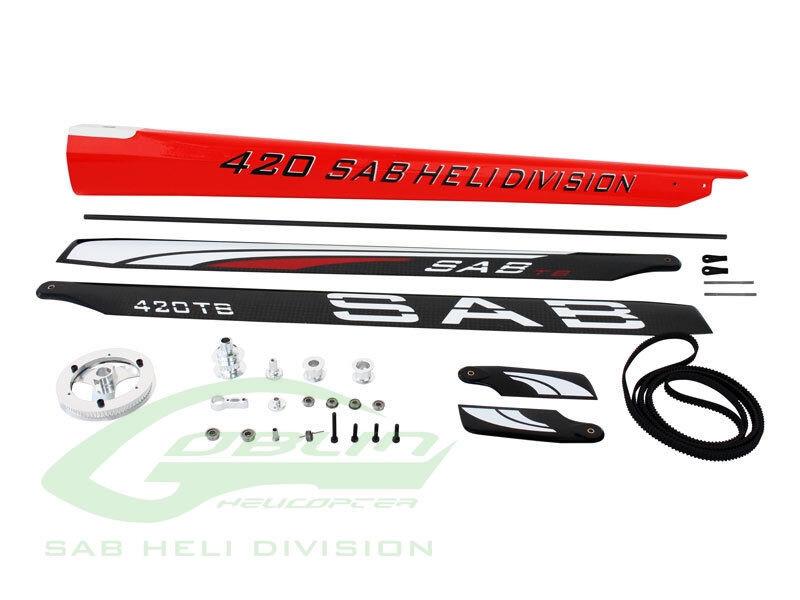 Sab Goblin 420 Kit de conversión de Rojo-Para Duende 380