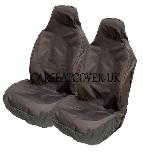 Heavy Duty Black Waterproof Car Seat Covers 2 x Fronts Seat Ateca