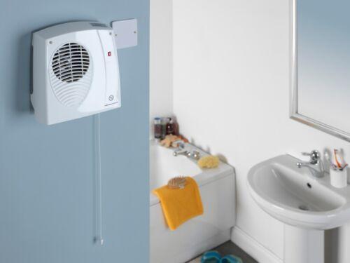 Riscaldatore Bagno A Parete Riscaldatore Ventola da cucina 2kW IP22 Cavo di trazione
