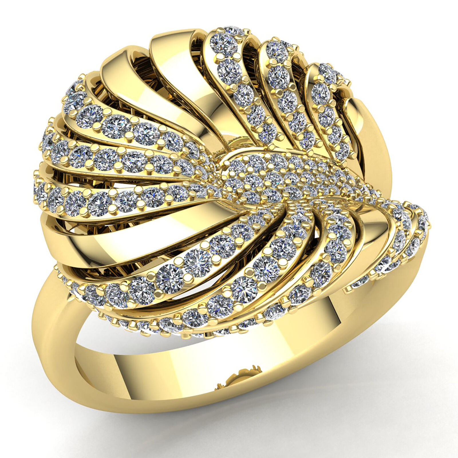 Natural 1ct Round Cut Diamond Ladies Personalized Vintage Fancy Ring 10K gold
