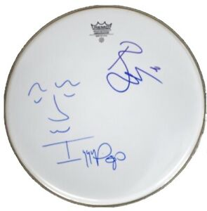 David Bowie Signed Drum David Bowie Autographed Drumhead Iggy Pop Signed Ziggy