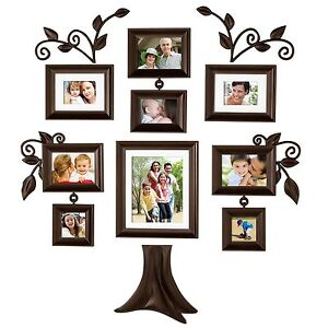 Wall Frames Set 9 piece family tree wall photo frame set hanging frames picture