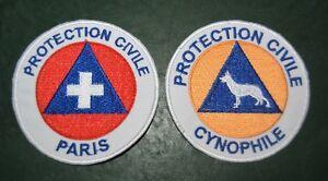 Lot-insigne-tissu-militaire-armee-ecusson-patch-badge-cynophile-Maitre-Chien-SOS