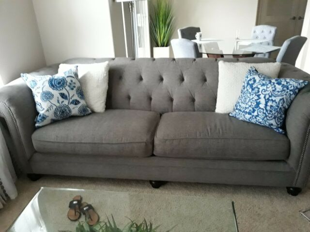 Enjoyable Gray Sofa And Charcoal Chair In Very Good Condition Must Sell Moving Out Gmtry Best Dining Table And Chair Ideas Images Gmtryco