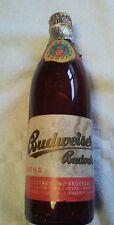 """Rare Vintage BUDWEISER """"BUDVAR"""" Czech Republic Brown Beer Bottle"""