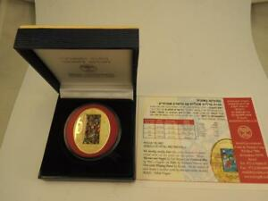 Music-in-Art-Series-034-Klezmer-and-Angels-034-by-Yosl-Bergner-Oval-Medal-1oz-Gold