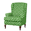 INSMA-Stretch-Wing-Chair-Cover-Slipcover-Wingback-Armchair-Furniture-D miniature 14