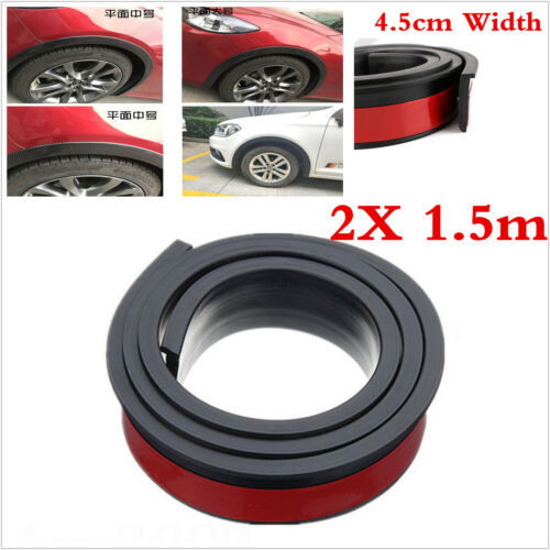 4.5cm 2X 1.5M Car  Body Kits Fenders Flares Wheel Eyebrow Protector Lip Moulding