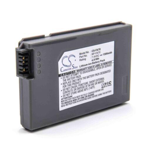 NP-FA70 Batería 1300mAh Para SONY DCR-PC55W