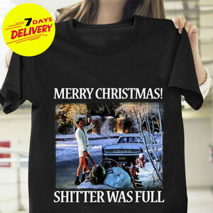 Merry Christmas Sh*Tters Full  Griswold Vacation Red Basic Men/'s T-Shirt