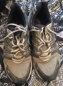 Silver/Black Running Shoes Sz. 11.5   eBay