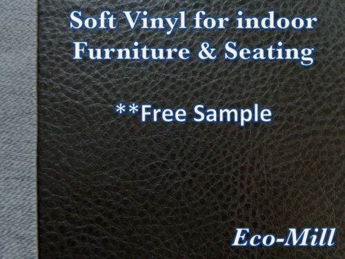 """NEW Faux Leather Fabric Austin Black Fake Soft Vinyl Fabric 54/"""" sell By the Yard"""