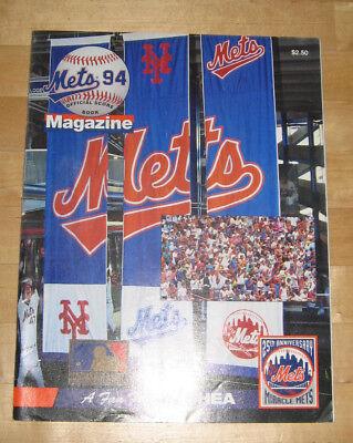 Braves 94 Official Score Book Magazine/program Shea Stadium ZuverläSsige Leistung Fanartikel Mets