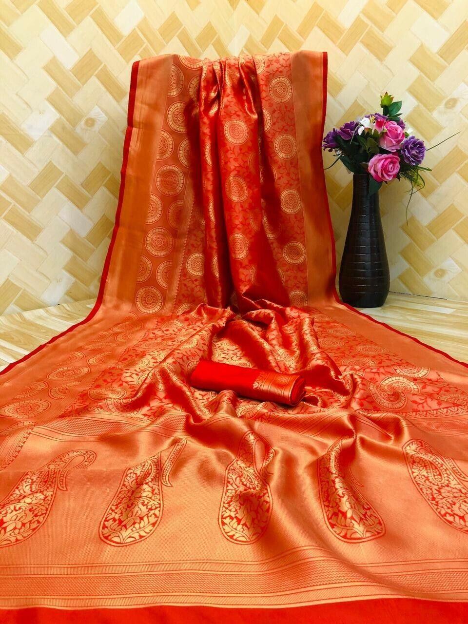 Banarasi Weaving Soft Silk Saree With Rich Pallu N Rich Heavy Border