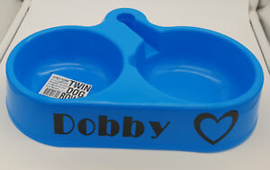 Dishes, Feeders & Fountains Dog Supplies Sincere Bnwt Unbranded Personalised Name Blue Auto Watering Twin Bowl 34cm Made In Aus Excellent In Cushion Effect