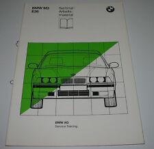 Schulungsunterlage BMW 3er M3 E36 / E 36 Motor DME Vanos Diagnose Juni 1992!