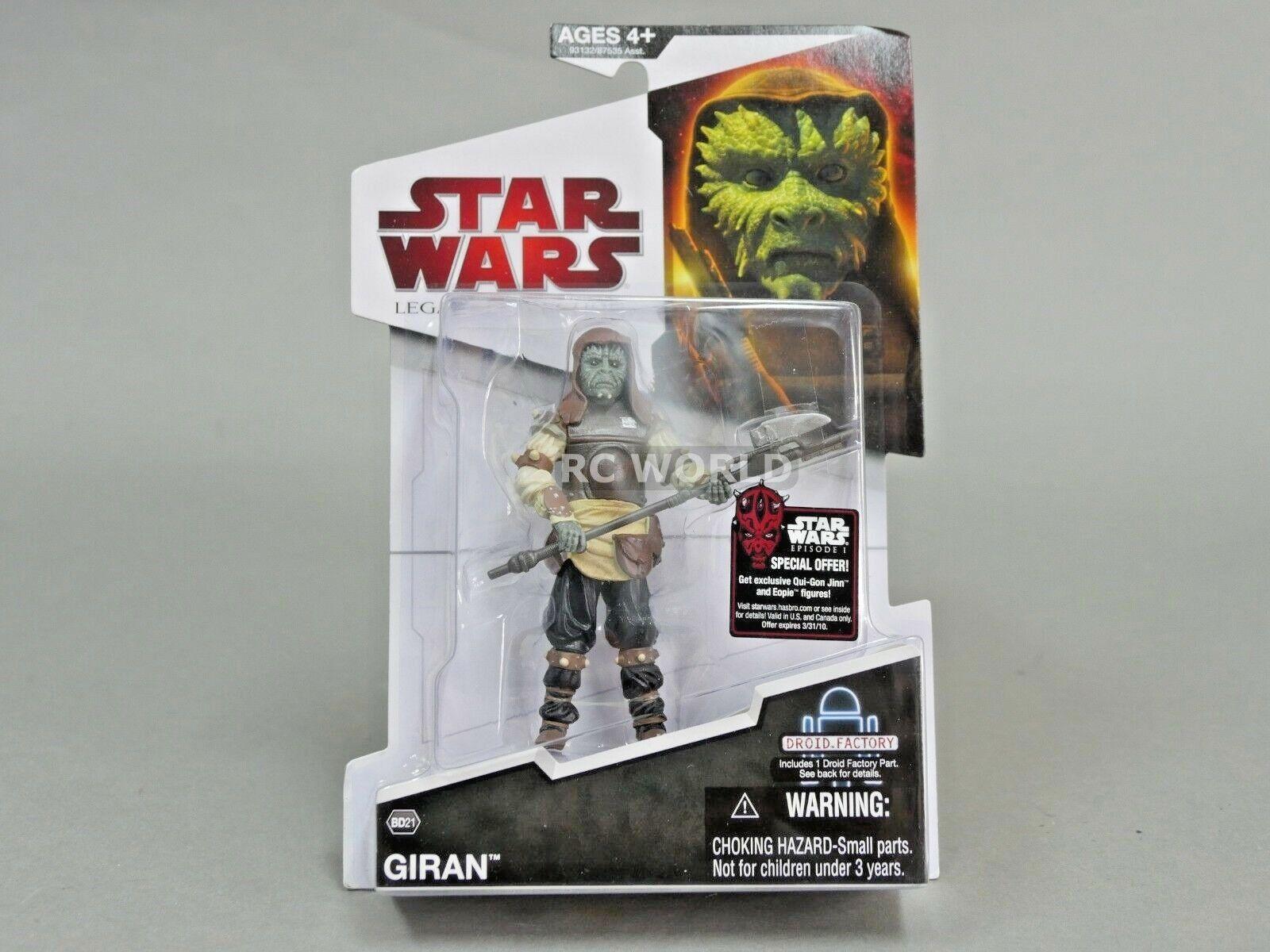Estrella Wars Legado colecciones giran Build A Droid Figura de Acción  e3a