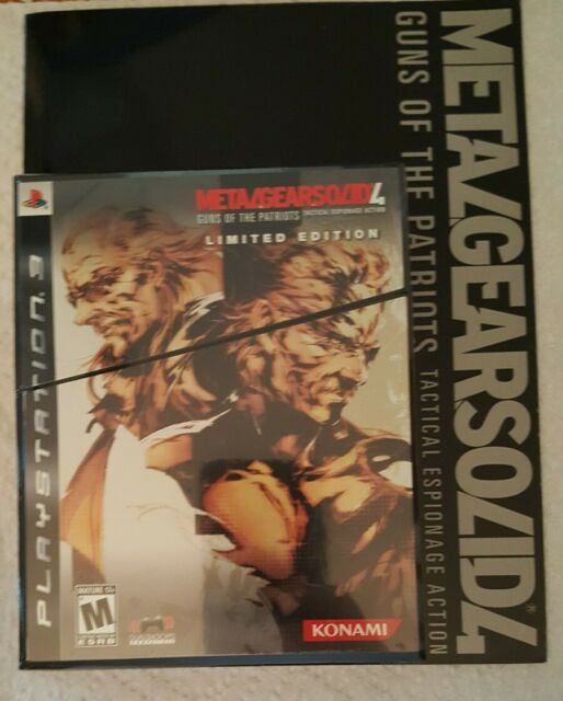 Metal Gear Solid 4 IV US PlayStation 3 PS3 NEW SEALED Limited Edition + Artbook