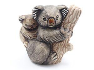 "RARE Rinconada CERAMIC URUGUAY KOALA BEAR MOTHER BABY FIGURINE 3.5"""