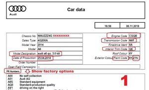 Details about VIN decoder that will show factory options Audi VW Seat Skoda