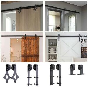 1 83 2m Sliding Barn Door Hardware Set Track Rail Interior