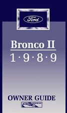 1989 Ford Bronco II Owners Manual User Guide
