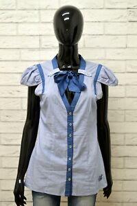 Camicia-SILVIAN-HEACH-Donna-Taglia-S-Maglia-Shirt-Blusa-Woman-Manica-Corta-Seta