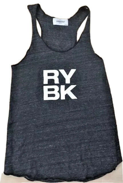 SOULCYCLE Racerback Tank Top Heather Gray RYBK Ryebrook Wheel size M Cycle Spin