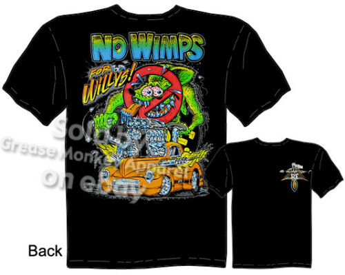 1941 Willys Rat Fink T-shirt 41 Hot Rod Ed Big Daddy Roth Tee Sz M L XL 2XL 3XL