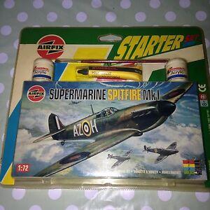 Sous-marin Spitfire Mk1 Airfix Starter Set 1:72 Humbrol Produit Niveau de compétence 1 Nouveau