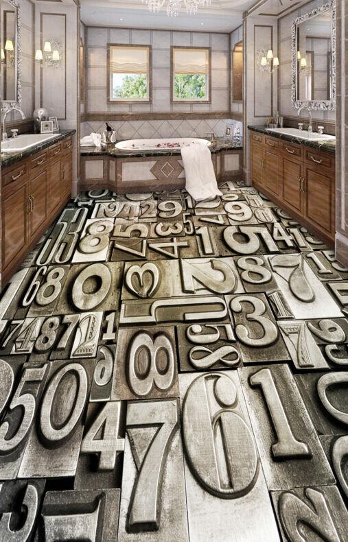 3D Papel De Parojo Nostálgico números 74 Piso Impresión De Parojo Murales Wallpaper AJ Reino Unido Limón