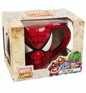 847a1744a28a4 MARVEL COMICS - SPIDER-MAN 3D MUG IN GIFT BOX - BRAND NEW GREAT GIFT ...