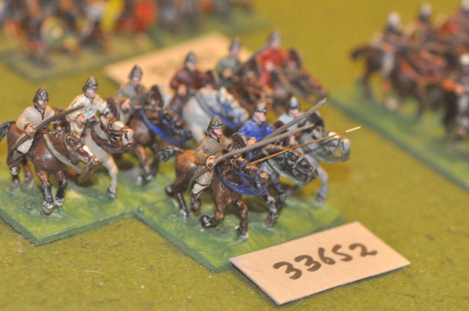 25mm medieval   norman - milites 9 figures - cav (33652)