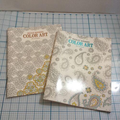 LEISURE ARTS Color Art Coloring Books Paisley Wonders /& Design Wonders New 2