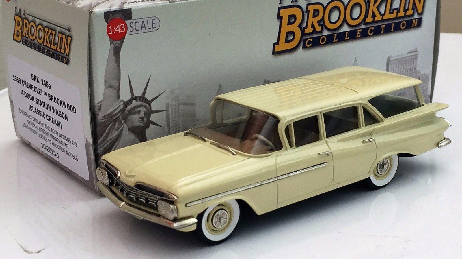 Brooklin brk 145a 1959 chevrolet brookwood 4 - türig, schaltgetriebe kombi - made in germany