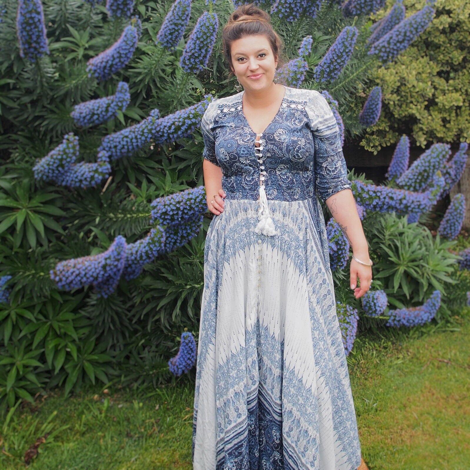 JAASE damen INDIANA MAXI DRESS LEONA PRINT GrößeS XS-XL